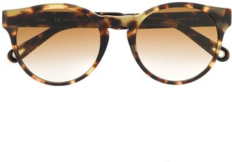 Chloé Eyewear tortoiseshell round sunglasses