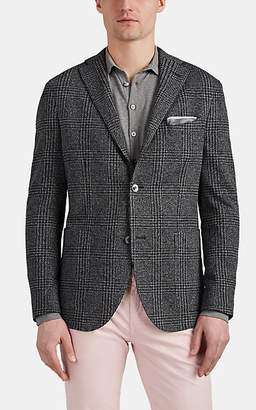 "Boglioli Men's ""K Jacket"" Houndstooth Wool-Cotton Two-Button Sportcoat - Charcoal"