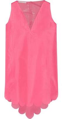Antonio Berardi Asymmetric Silk-Gauze Top