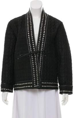 Isabel Marant Silk Leather-Trimmed Jacket