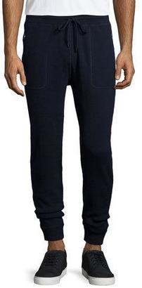 Michael Kors Waffle-Knit Drawstring Sweatpants, Navy $225 thestylecure.com