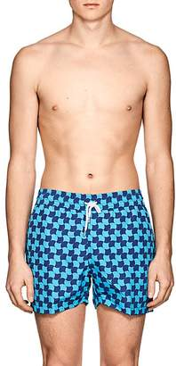 Trunks Frescobol Carioca Men's Prainha Wave-Print Swim