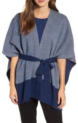 Eileen Fisher Merino Wool Sweater Poncho (Regular & Petite)