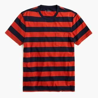 J.Crew Mercantile Broken-in T-shirt in red rugby stripe