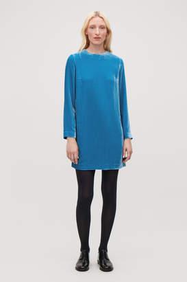 Cos SHORT VELVET DRESS