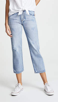 Blank Cropped Straight Leg Jeans