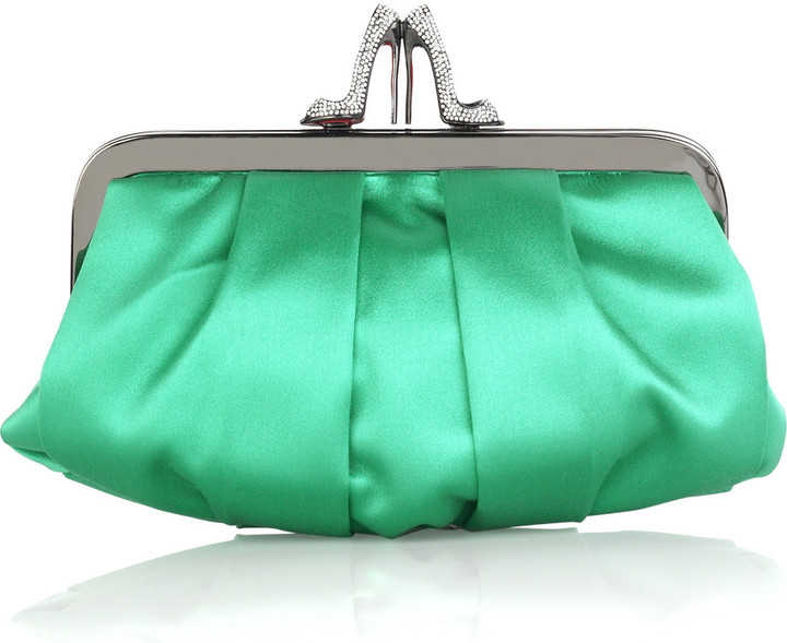 Christian Louboutin Loubinight satin clutch