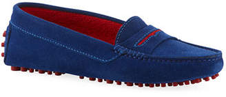 Manolo Blahnik Suede Flat Slip-On Drivers
