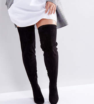 Asos KATCHER Wide Fit Tall Over The Knee Boots