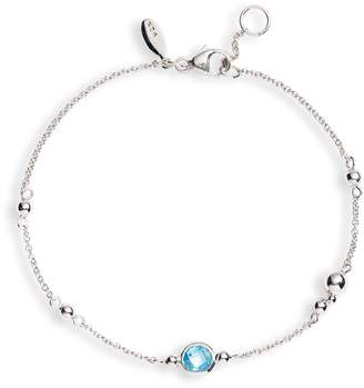 Anzie Dew Drop Bubbling Brook Blue Topaz Bracelet