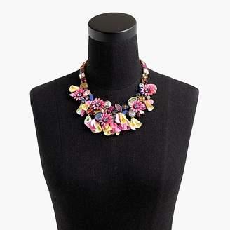 J.Crew Crystal flower statement necklace