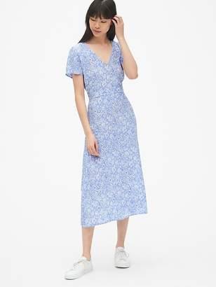 Gap Fit and Flare V-Neck Midi Dress