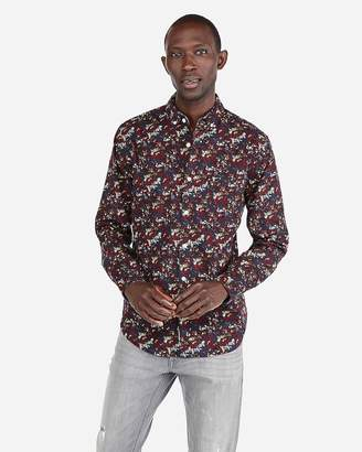 Express Slim Floral Soft Wash Shirt