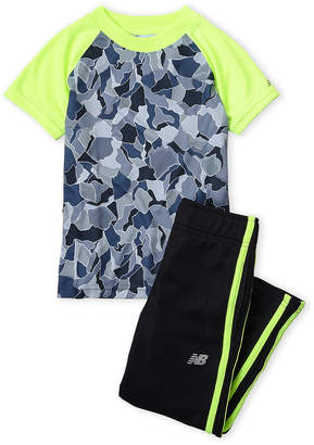 New Balance Boys 4-7) Two-Piece Camo Raglan Tee & Mesh Pants Set