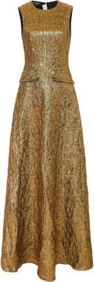 Rochas Metallic Wool-Blend Gown