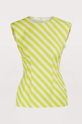 Dries Van Noten Sleeveless striped blouse