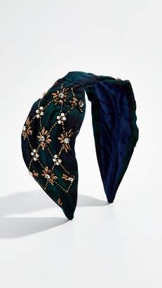 NAMJOSH Blue Plaid Embellished Headband