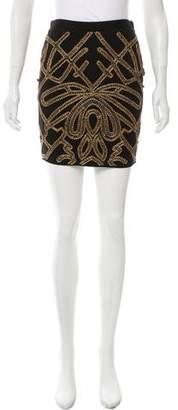 Haute Hippie Beaded Embellished Mini Skirt