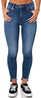 Neuw New Women's Womens Smith Skinny Claire Jean Cotton Elastane Blue