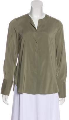 Brunello Cucinelli Silk Button-Up Top