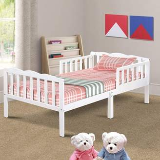 Harper & Bright Designs Harper&Bright Designs Classic Solid Wood Toddler Bed with Headboard and Footboard (White)