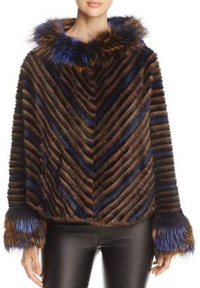Maximilian Furs Mink Fur Chevron Jacket - 100% Exclusive