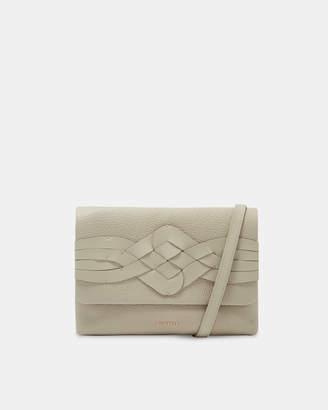 Ted Baker BRONIE Braid detail leather cross body bag