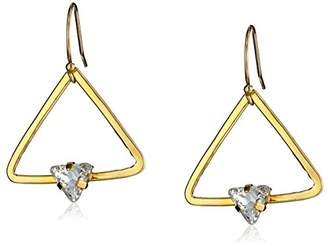 "Kris Nations Angel Fire"" Swarovski Crystal Triangle Stone Simple Drop Earrings"