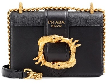 prada Prada Embellished Leather Shoulder Bag
