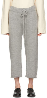 LAUREN MANOOGIAN Grey Baby Alpaca Lounge Pants