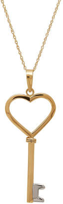 FINE JEWELRY Infinite Gold 14K Yellow Gold Key Pendant Necklace