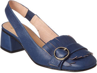 French Sole Twain Leather Pump