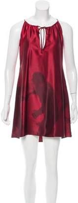 Nili Lotan Digital Print Silk Dress