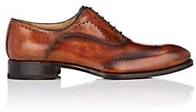 Harris Men's Perforated Leather Wingtip Balmorals - Med. brown