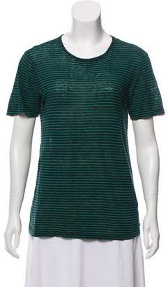 Alexander Wang Short Sleeve Linen T-Shirt