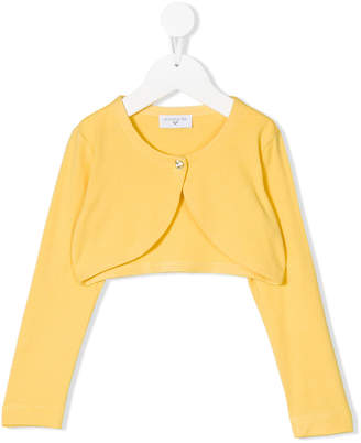 MonnaLisa cropped single button cardigan