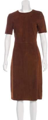 Prada Suede Midi Dress