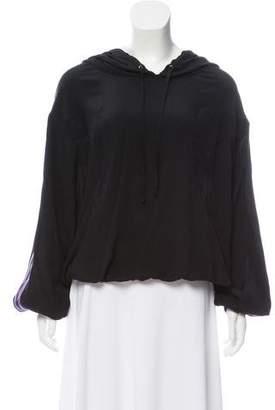 Gucci Silk Hooded Sweatshirt