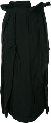 aganovich long pleated skirt