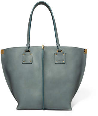 Chloé Vick Textured-leather Tote - Blue