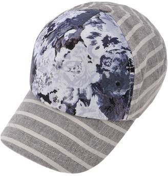 fe23ada719a ZLYC Women Striped Floral Cotton Baseball Cap Adjustable Curved Snapback Hat