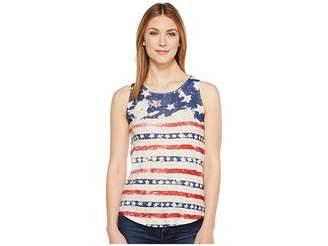 Lucky Brand American Flag Print Tank Top Women's Sleeveless
