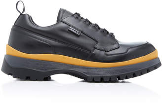 Prada Two-Tone Leather Sneakers