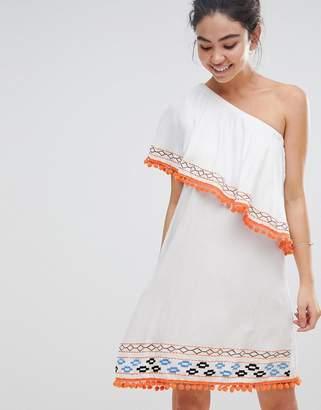 America & Beyond One Shoulder Beach Dress