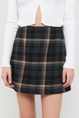 Urban Renewal Vintage A-Line Plaid Skirt