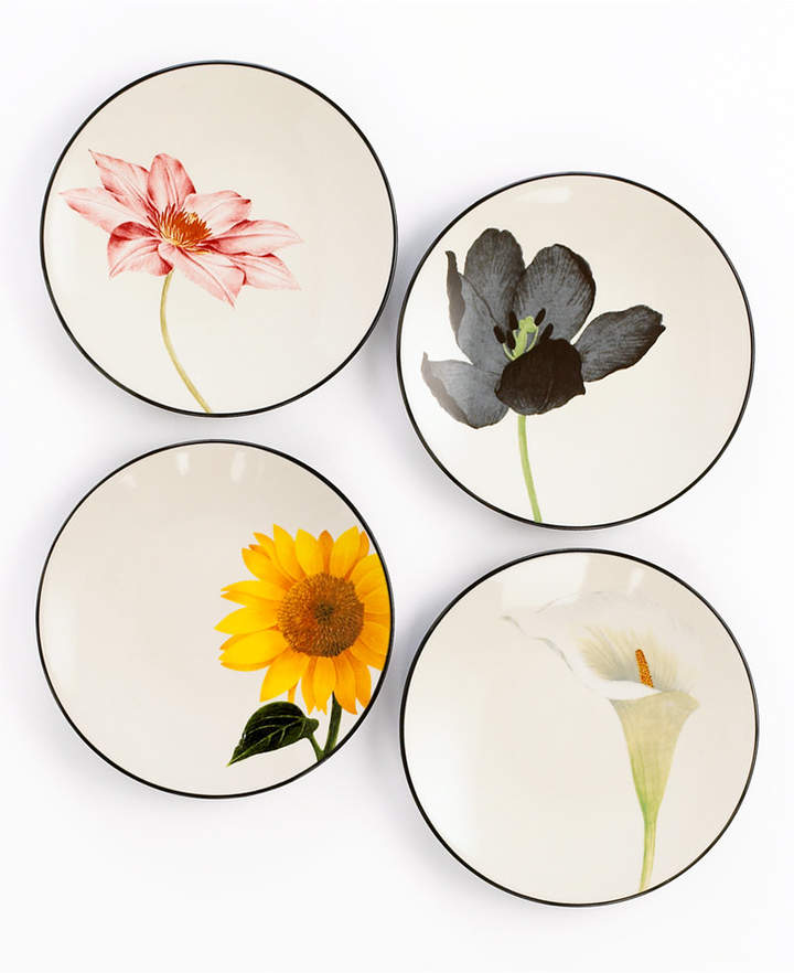 Noritake Dinnerware, Set of 4 Colorwave Floral Appetizer Plates