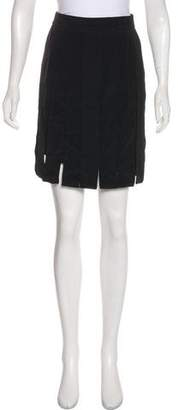 Cushnie et Ochs Silk Fringe-Trimmed Skirt