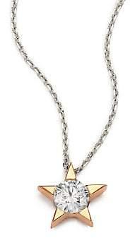 Hearts On Fire Women's Illa Diamond & 18K Rose Gold Pendant Necklace