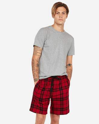 Express Double Brushed Plaid Flannel Lounge Shorts