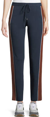 Loro Piana Drawstring High-Rise Tapered-Leg Athletic Pants